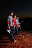 Teen musical band stock photo