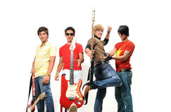 Teen musical band Royalty Free Stock Photo
