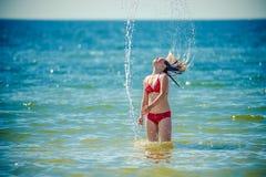 Teen in ocean Royalty Free Stock Photo
