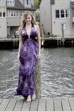 Teen On A Dock Royalty Free Stock Photos