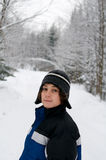 Teen outdoors in winter Stock Photography