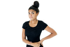 Teen from Pakistan portrait hand on hip Royalty Free Stock Image