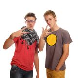 Teen pals. A couple of teen boys hanging out Royalty Free Stock Photos