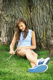 Teen in a park Royalty Free Stock Images