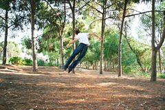 Teen in park Stock Images
