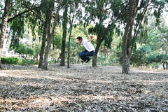 Teen in park Stock Photo