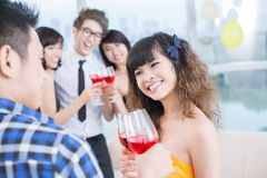 Teen party Stock Photo