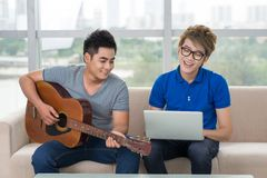 Teen pastime Royalty Free Stock Images