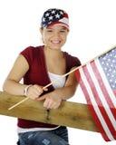 Teen Patriot Royalty Free Stock Photography