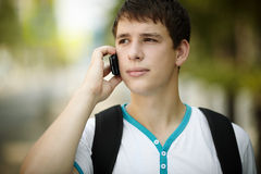Teen on the phone Stock Image