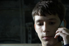 Teen on the phone Royalty Free Stock Photo