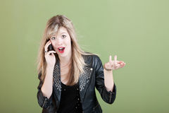 Teen On Phone Call Stock Image