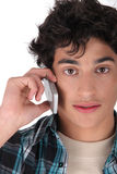 Teen on the phone Royalty Free Stock Photos