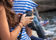Teen photographer Royalty Free Stock Image