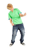Teen playing air guitar Stock Photo