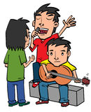 Teen playing Guitar Royalty Free Stock Photos