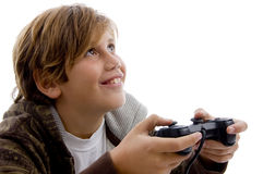 Teen playing video games Royalty Free Stock Photography