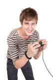 Teen Plays Video Game Stock Photography