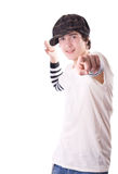 Teen pointing directly at you Royalty Free Stock Image