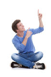 Teen pointing up Stock Photography