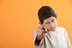 Teen Points Finger Stock Photo