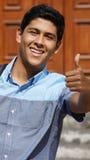 Teen pojketum upp Fotografering för Bildbyråer