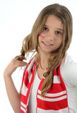 Teen Polish football supporter Stock Photos