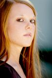 Teen portrait. Pretty teenage girl, eighteen year old student Stock Image