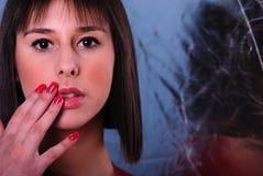 Teen portrait on vivid colour Stock Image