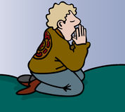 Teen praying Royalty Free Stock Images