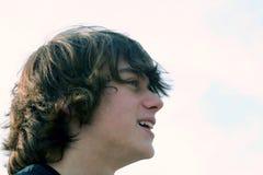Teen Profile. Profile of teenage boy stock photos