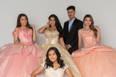 Teen Quinceanera Dresses royalty free stock photos