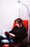 Teen reading Royalty Free Stock Image