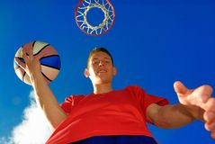 Teen ready to play. Basketball Stock Image