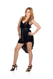 Teen rebellious girl with a black dress Royalty Free Stock Image