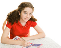 Teen Registers To Vote Royalty Free Stock Image