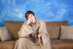 Teen with Remote Control Stock Photography