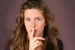 Teen resquesting silence Royalty Free Stock Photos