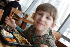 Teen in restaurant Royalty Free Stock Photography