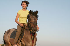 Teen rider Royalty Free Stock Photo