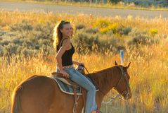Teen riding Royalty Free Stock Images