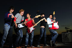 Teen rock band stock images