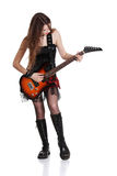 Teen rock star Stock Photo