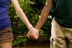 Teen romance -interracial couple Stock Photos