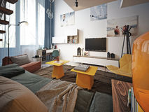 Teen room contemporary style Stock Images