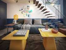 Teen room contemporary style Stock Image