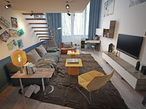 Teen room contemporary style Stock Photography