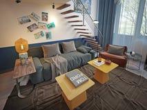 Teen room contemporary style Stock Photos