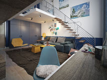 Free Teen Room Loft Style Stock Photo - 48276010