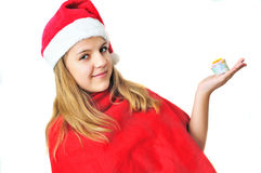 Teen Santa Royalty Free Stock Photography